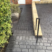 slate grey cobbles with a path