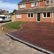 red brick tiled drive way